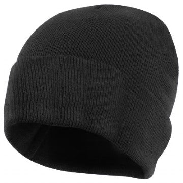 South End Junior Black Knitted Hat with Logo