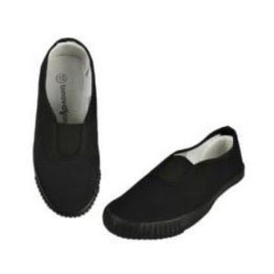 Plimsoll with Gussett Black