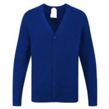 St Lawrence Cotton Knitted Cardigan with Logo