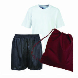 School Order Olympic PE Kit Teeshirt / Shorts and Bag with Logo