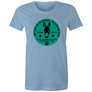 Bet Your Ass Teal Ladies Tee