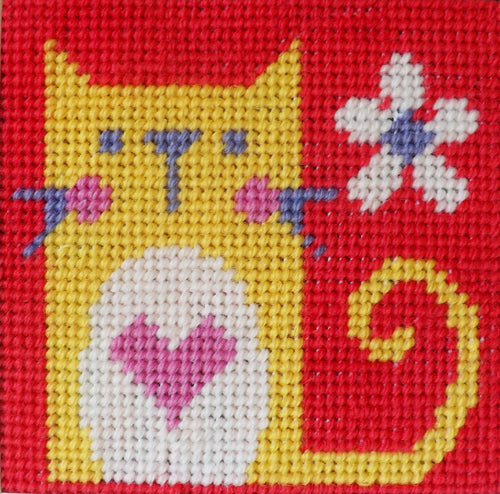 Cat Needlepoint Kit