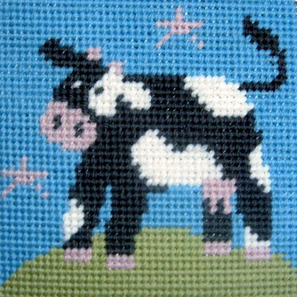 Cow Needlepoint Kit