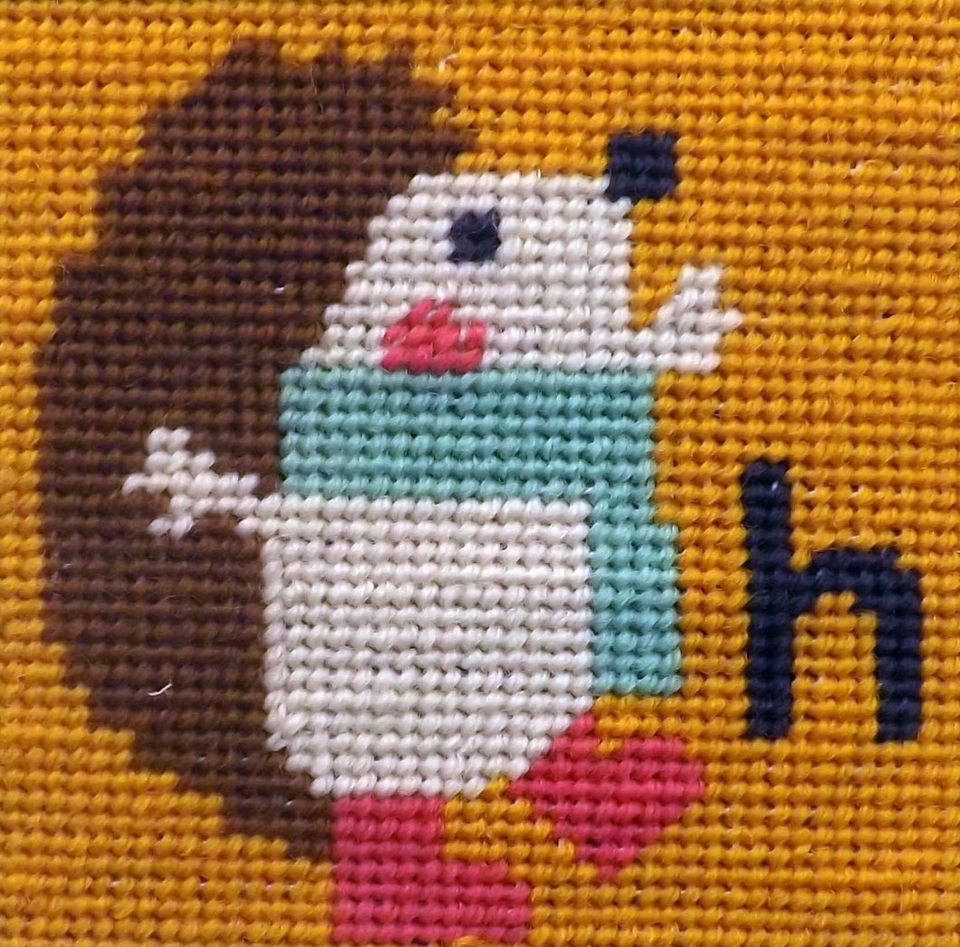Hedgehog Needlepoint Kit