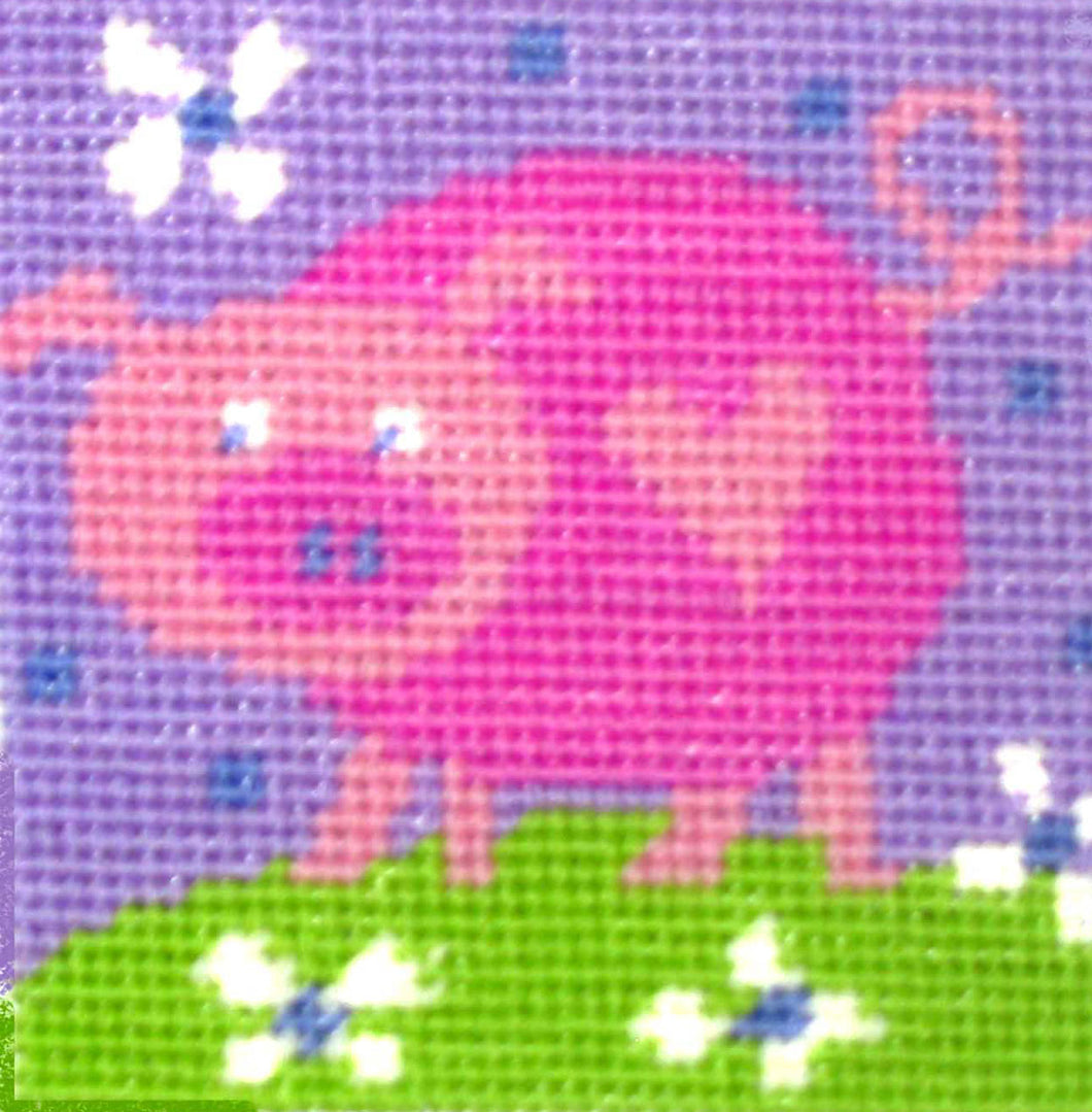 Pig needlepoint kit