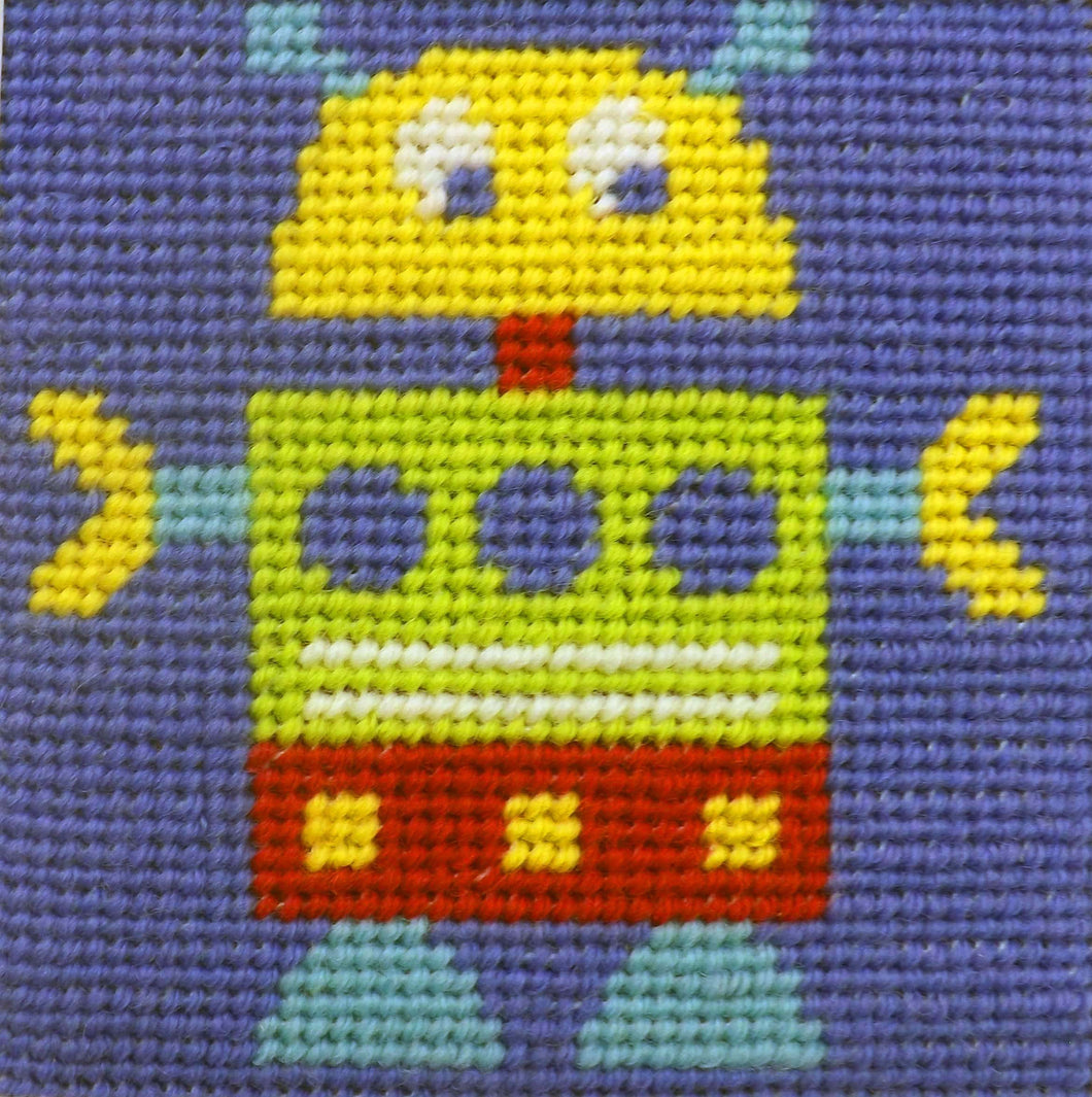 Robot Needlepoint Kit
