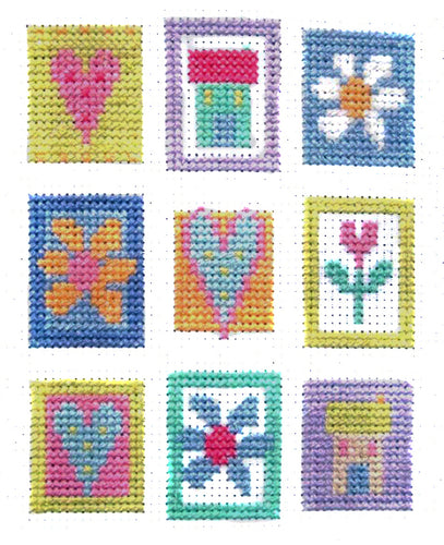 Patchwork Squares downloadable cross stitch chart