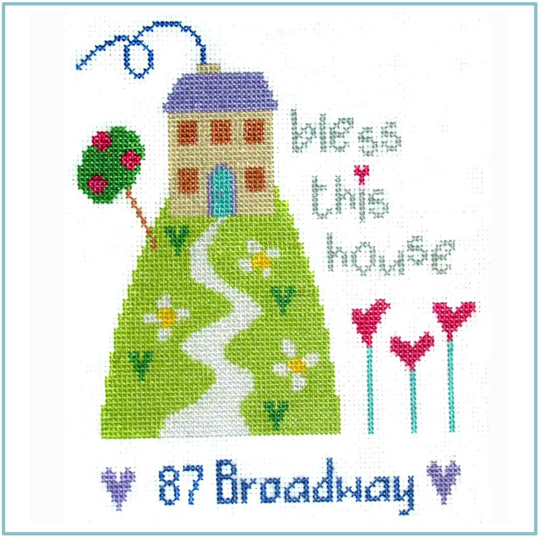 Address Sampler Cross Stitch Chart