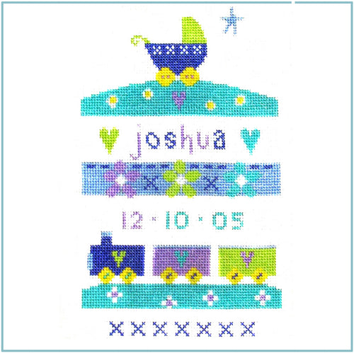 Baby Boy Sampler Cross Stitch Kit