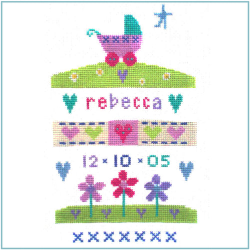Baby Girl Sampler Cross Stitch Kit