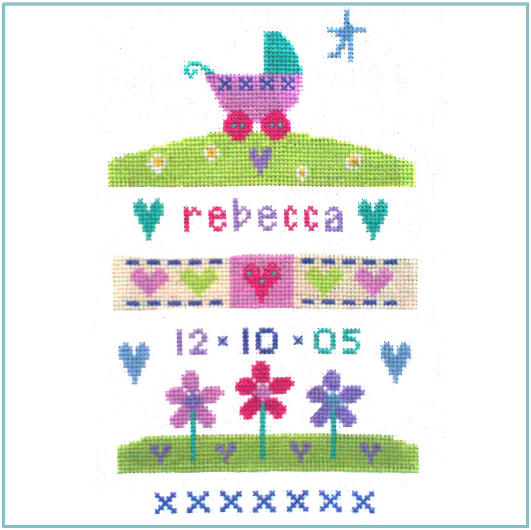 Baby Girl Sampler Cross Stitch Chart