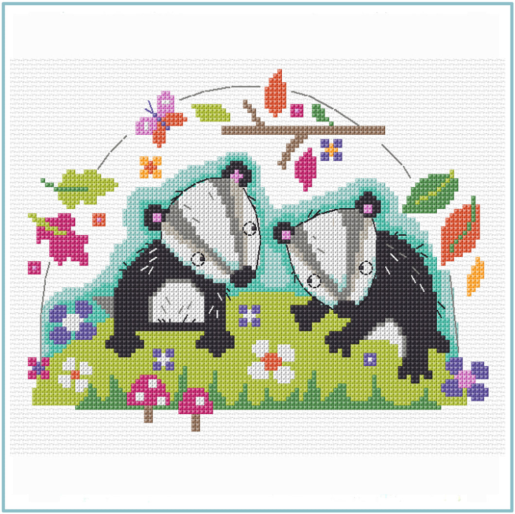 Badger Cross Stitch Chart