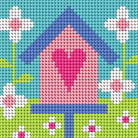 Birdhouse Needlepoint Kit
