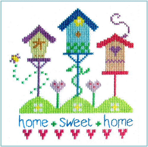 Birdhouses Cross Stitch Chart