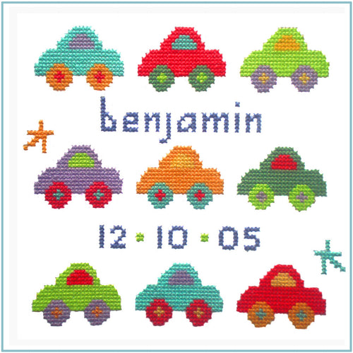 Car Sampler Cross Stitch Kit