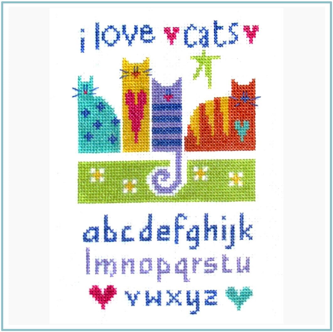 Cat Sampler Downloadable cross stitch chart