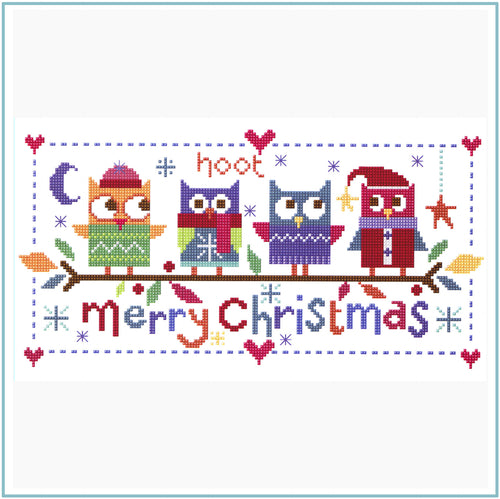 Christmas Owls Cross Stitch Kit