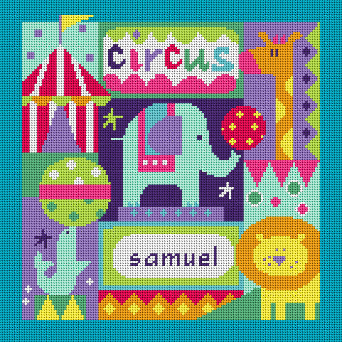 Circus Needlepoint Kit