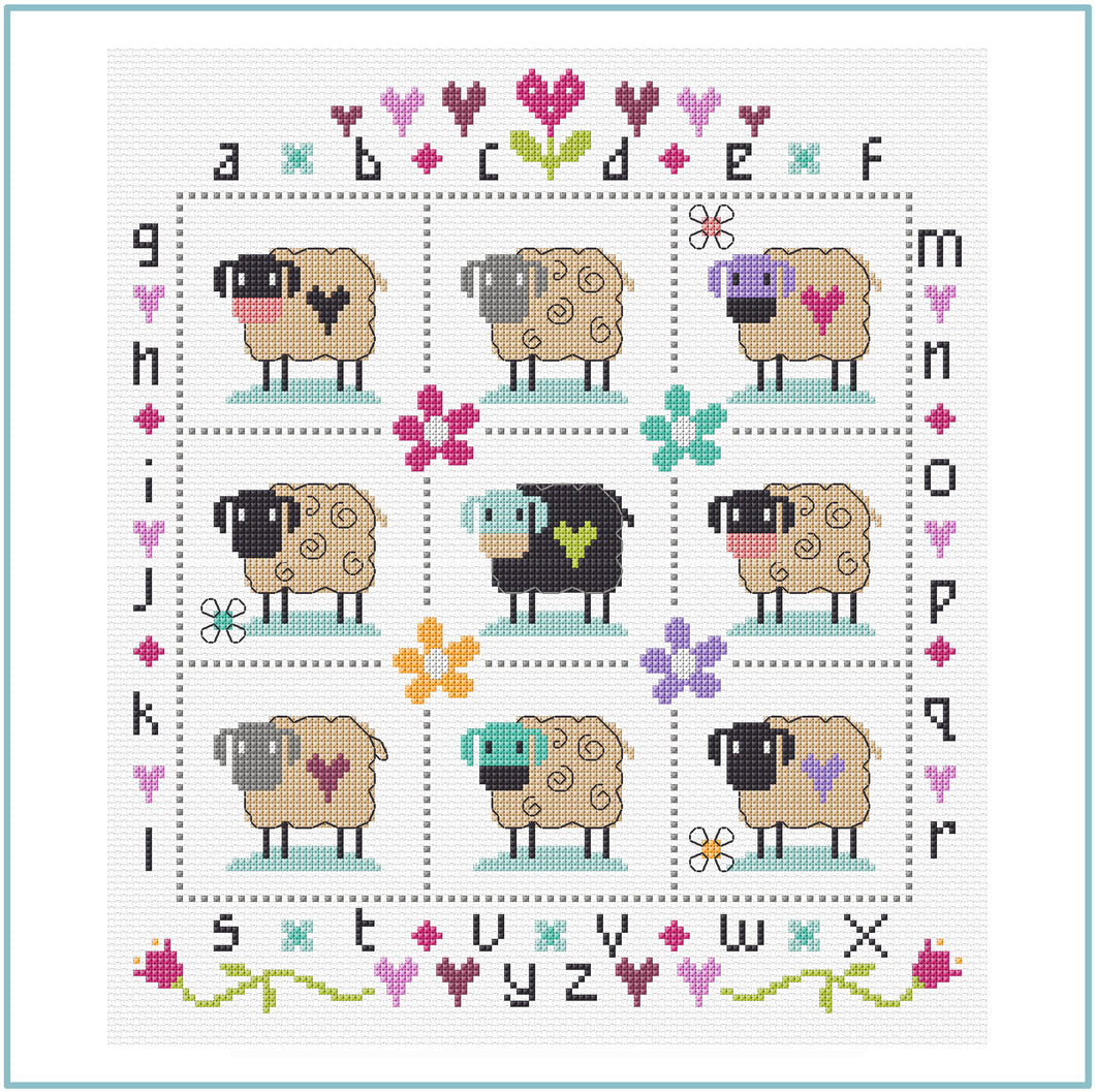 Country Sheep Cross Stitch Kit