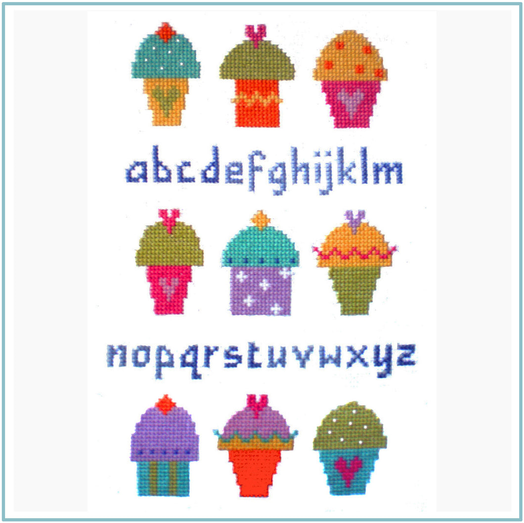 Cup Cake Sampler Cross Stitch Chart