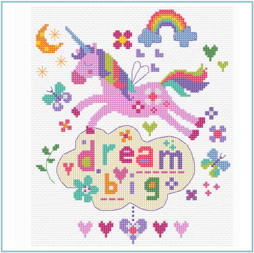 Dream Big cross stitch chart