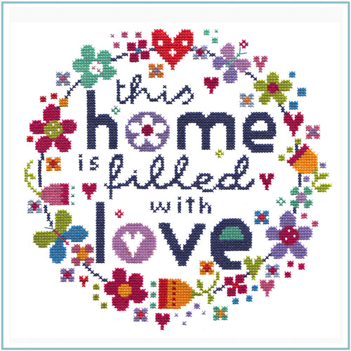 Filled with Love Cross Stitch Chart