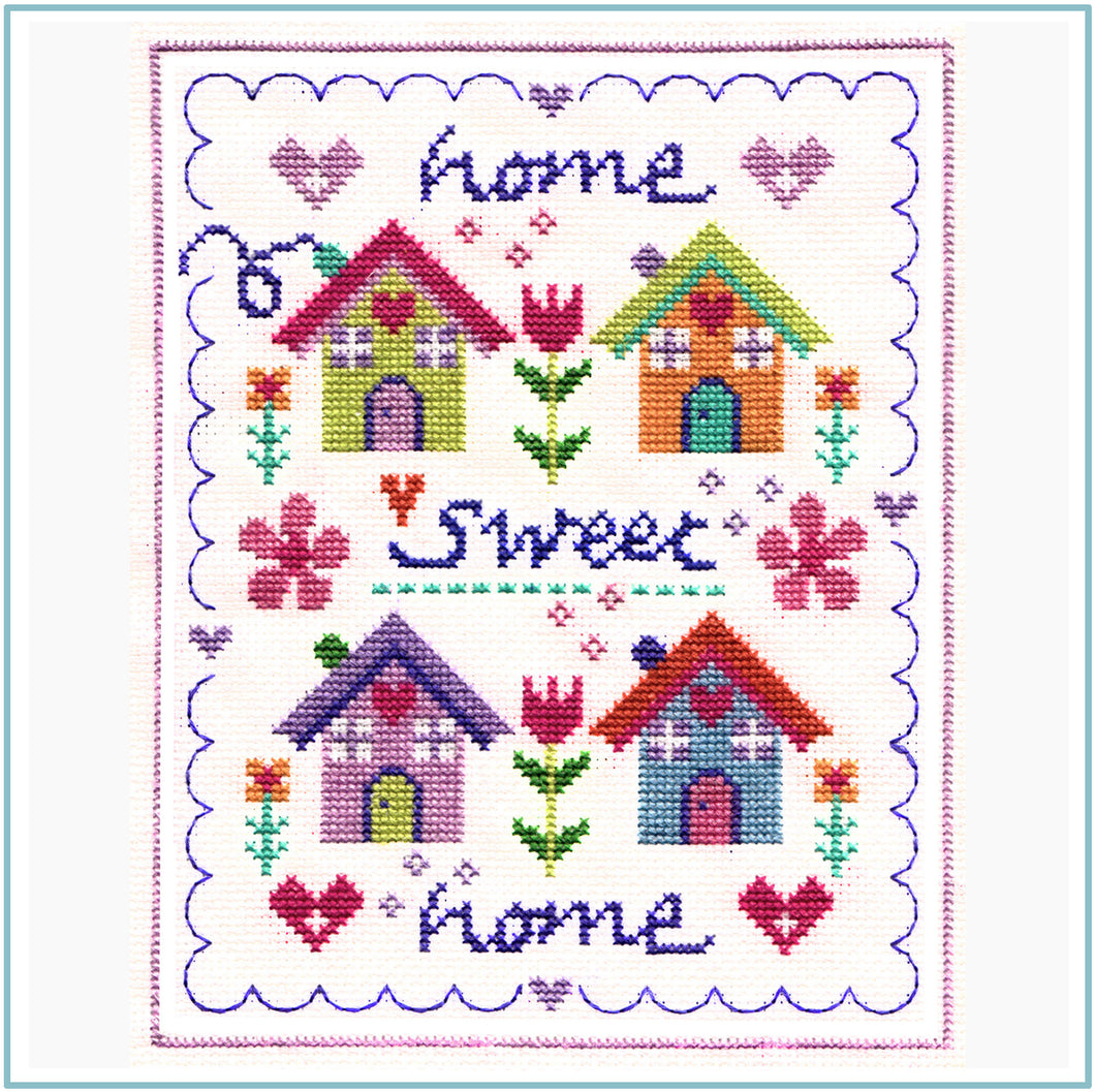 Floral Home Cross Stitch Chart