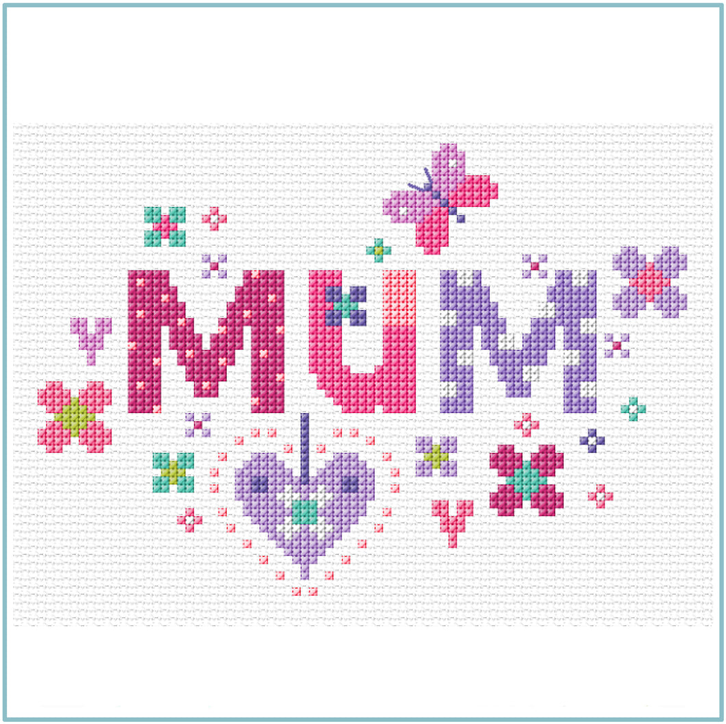 Floral Mum Cross Stitch Chart