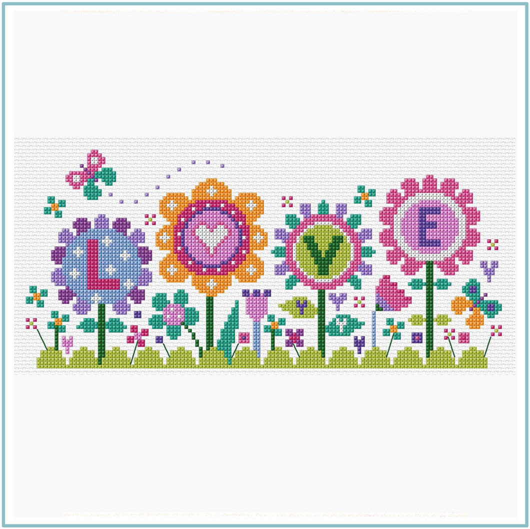 Flowers of Love Cross Stitch Chart