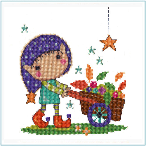 Gardening Elf Cross Stitch Chart