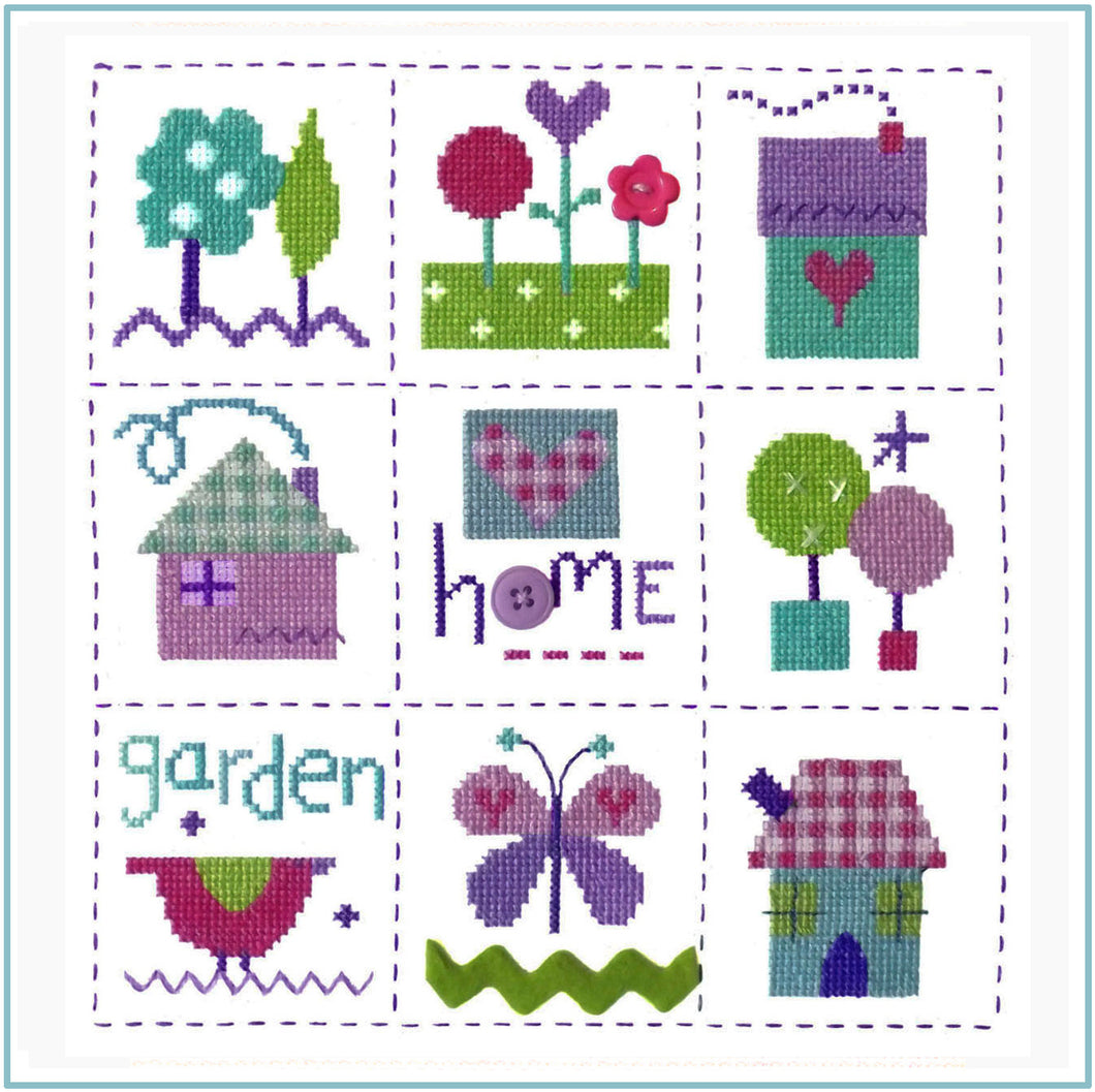 Gingham Sampler Cross Stitch Chart