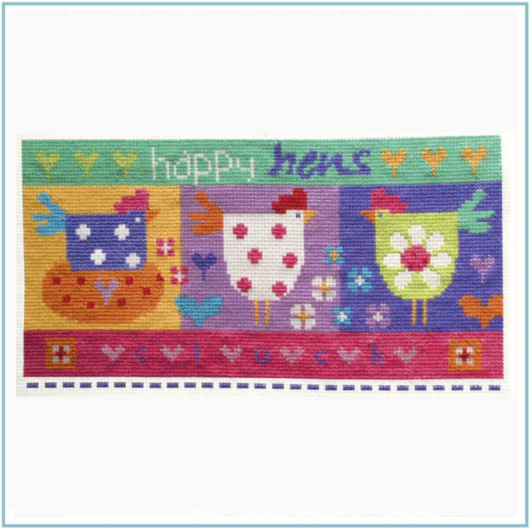Happy Hens Cross Stitch Chart
