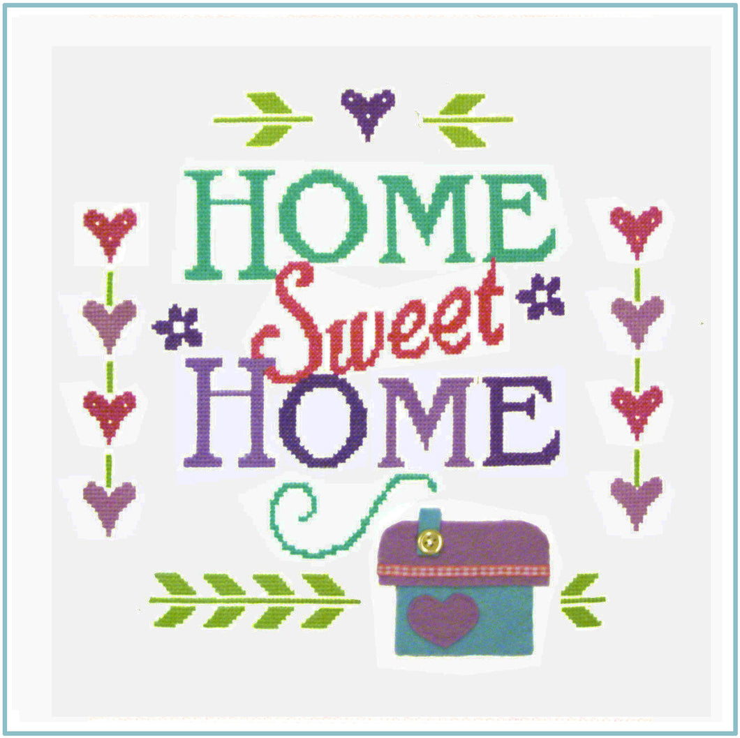 Home Sampler Cross Stitch Chart