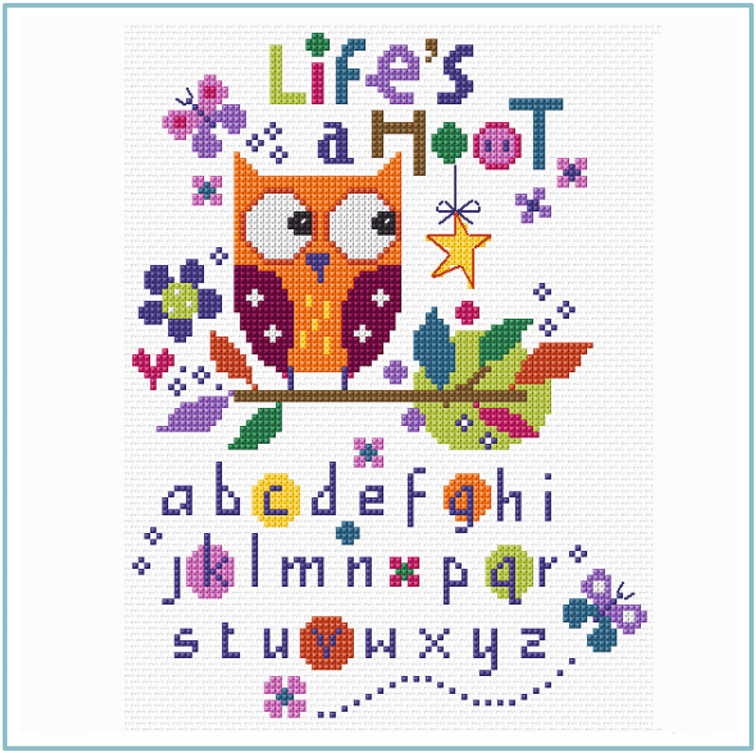 Life's a Hoot Cross Stitch CHART