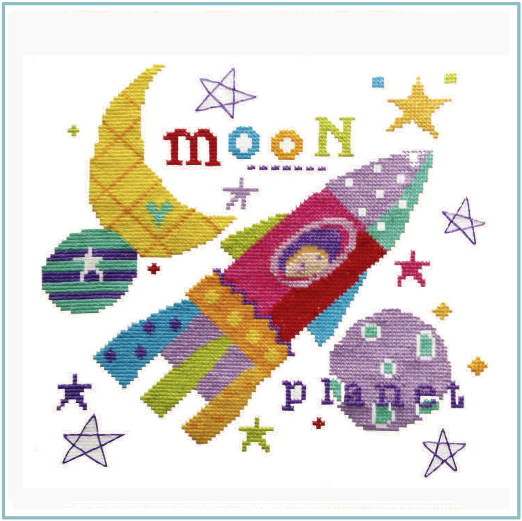 Lift Off Cross Stitch Chart