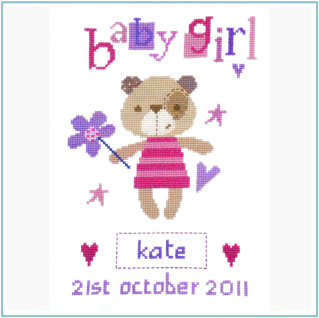 Madison Girl Cross Stitch Chart