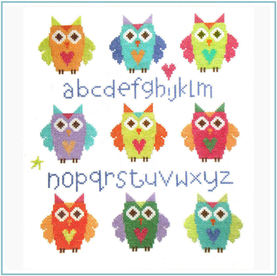 Owl Sampler Cross Stitch Chart