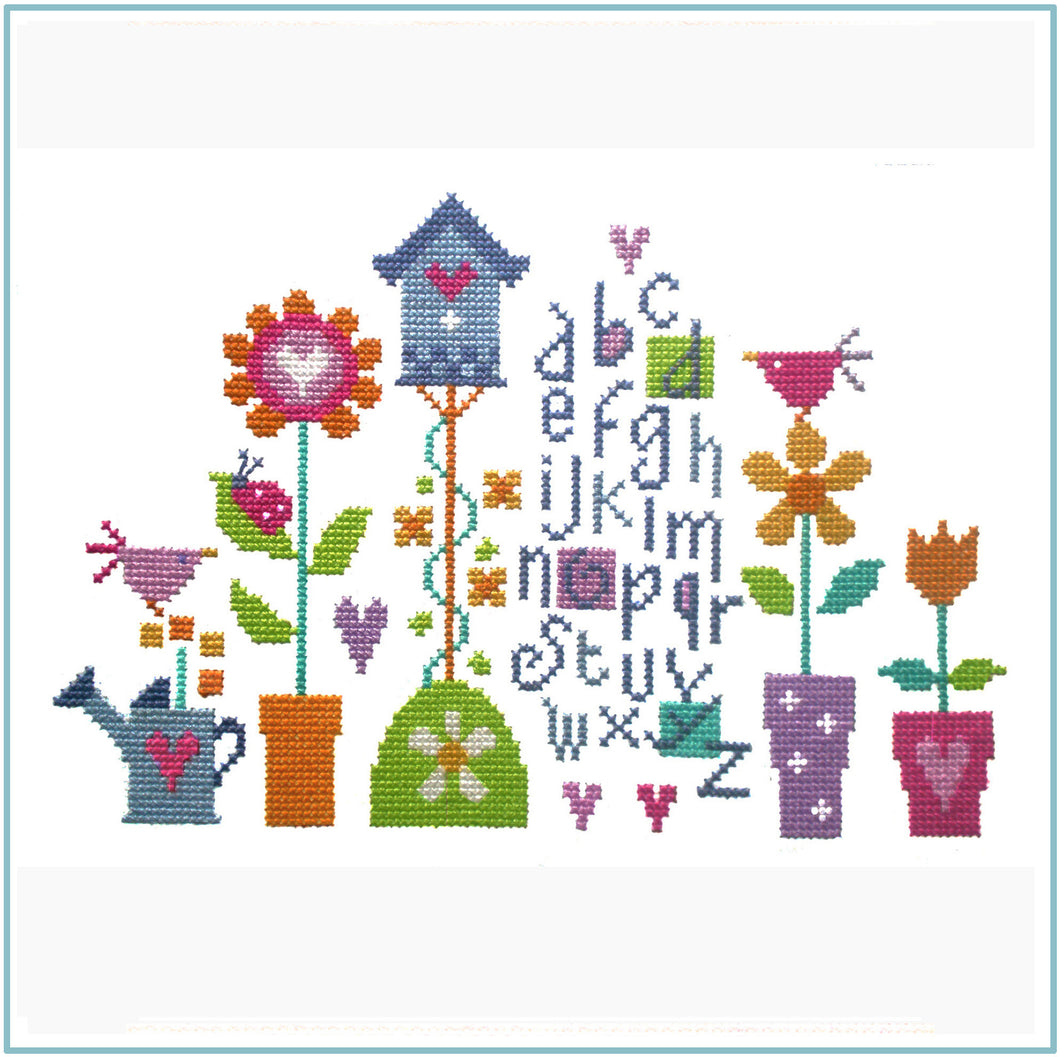 Pretty Garden Cross Stitch Kit