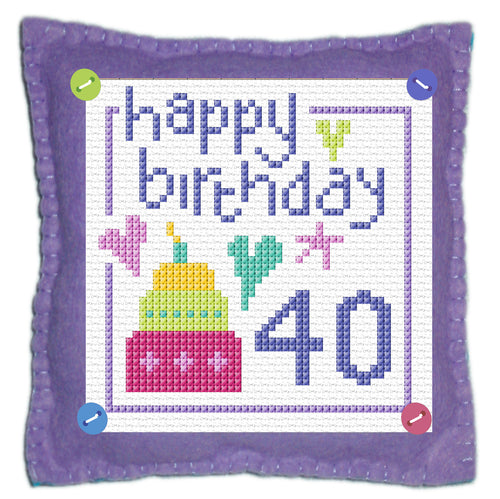 Happy Birthday Stitch a Gift Cross Stitch Kit