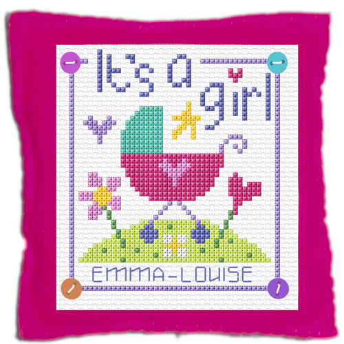 Baby Girl Stitch a Gift Cross Stitch Kit