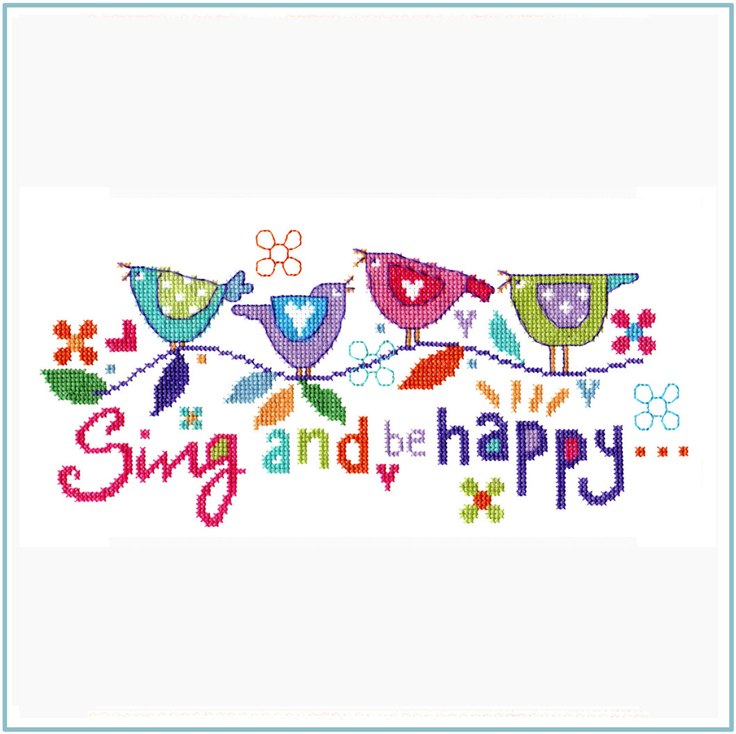 Sing and be Happy Cross Stitch Chart