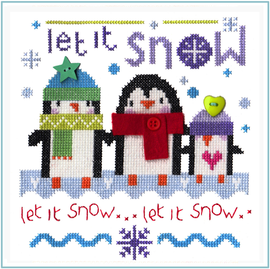 Snowy Penguins Cross Stitch Chart