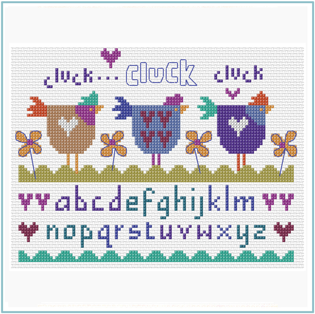 Three Hens Cross Stitch Chart