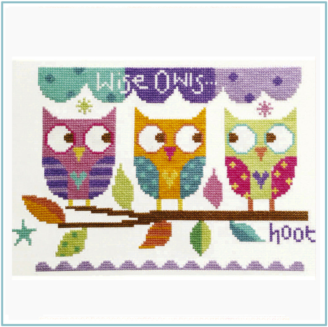 Three Owls Cross Stitch Chart