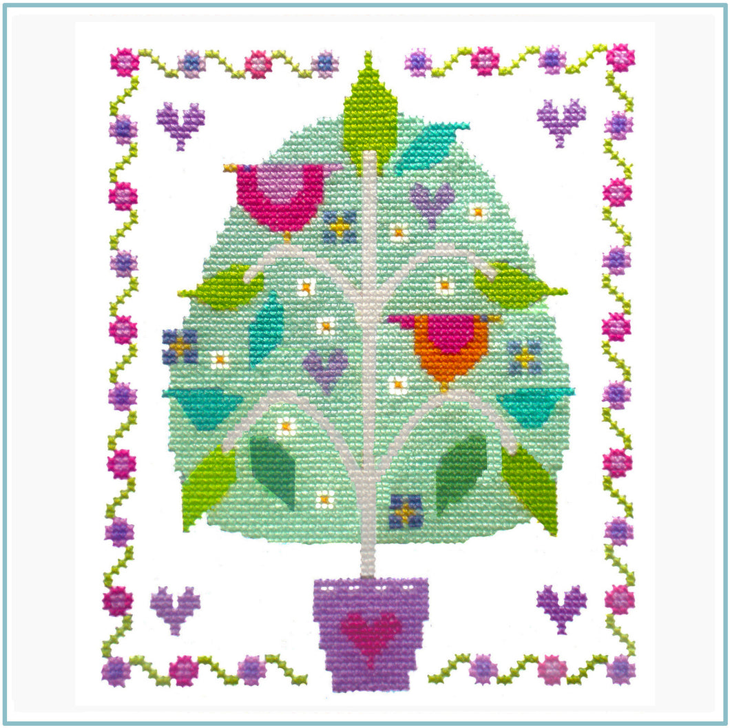Tree of Love Cross Stitch Chart