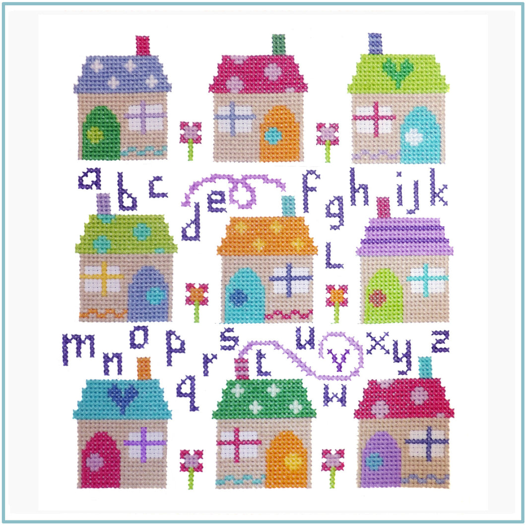 Village Sampler Cross Stitch Chart