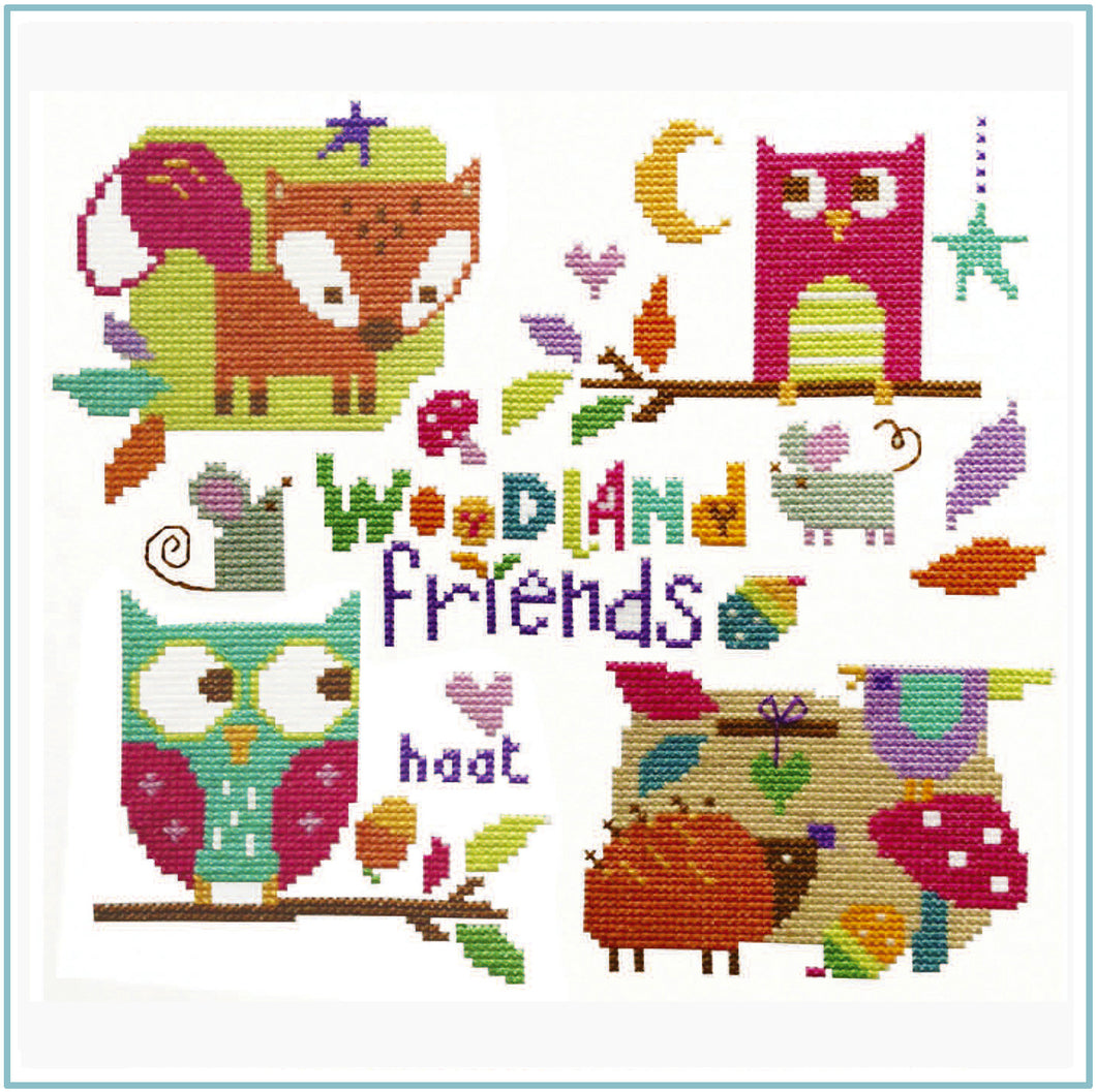 Woodland Friends Cross Stitch Kit
