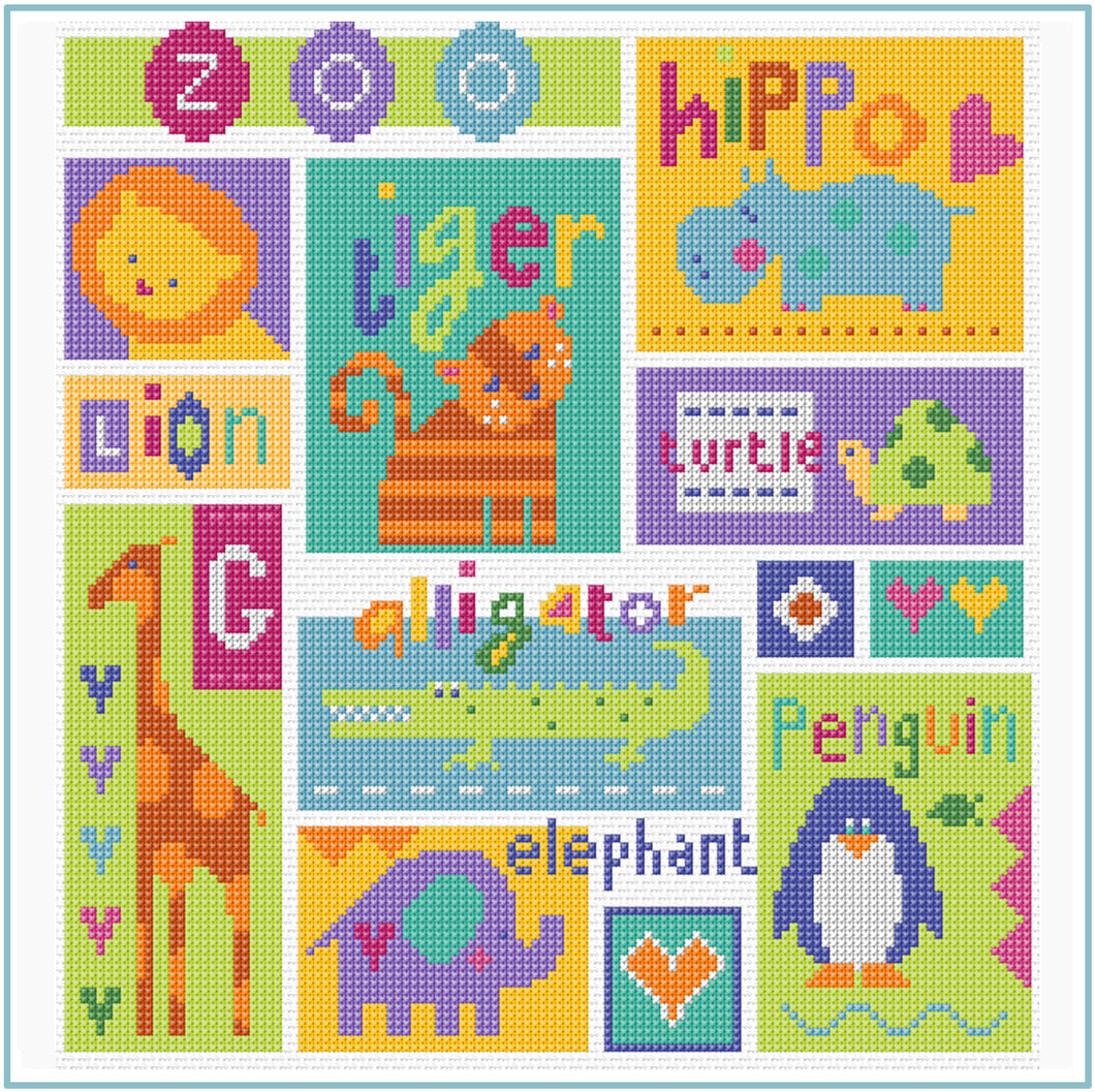 Zoo Cross Stitch Kit