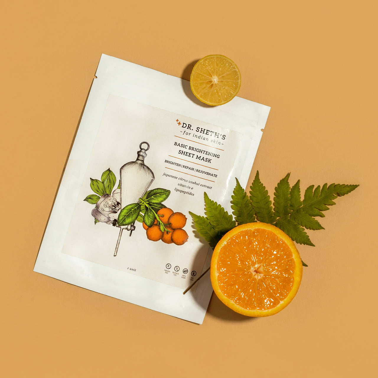 Dr. Sheth's Basic Brightening Sheet Mask - Dr. Sheth's ~ For Indian Skin