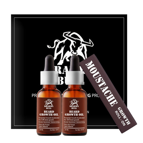 Moustache & Beard Growth Set - Brahma Bull